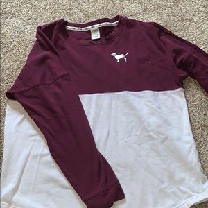 PINK jersey style crew neck